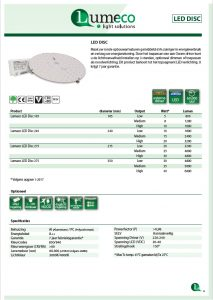 LED disc productleaflet