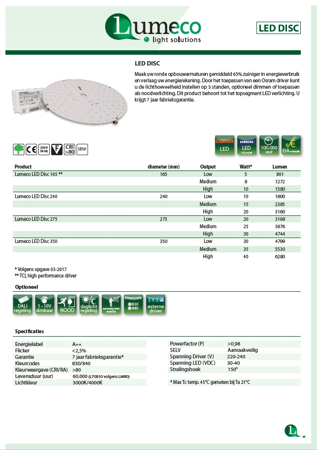 led disc product