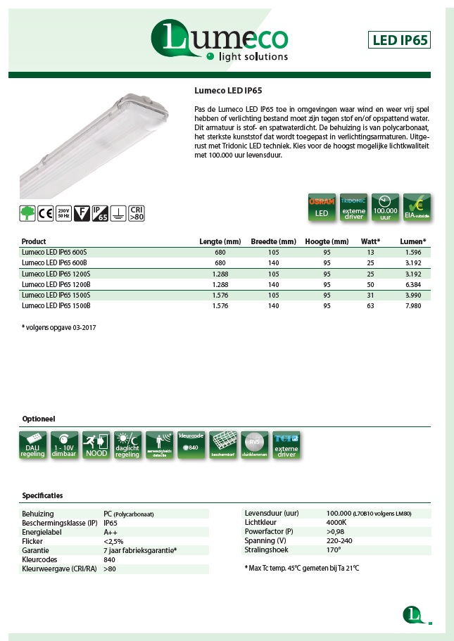 led ip65 product