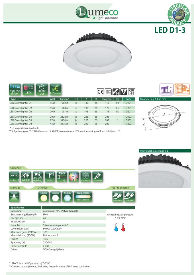 LED Downlighter D1-3