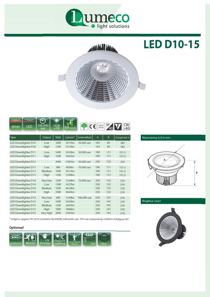 LED Downlighter D10-15