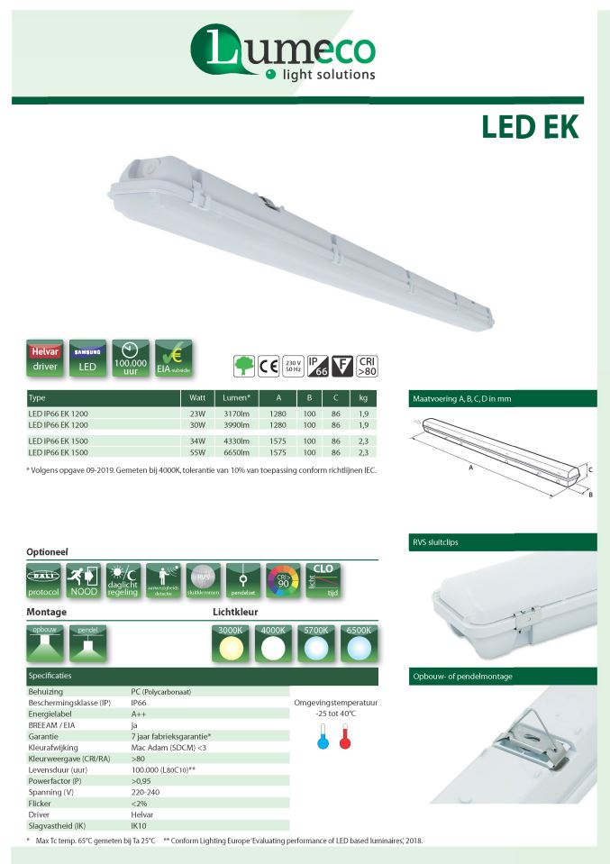 LED IP66 EK