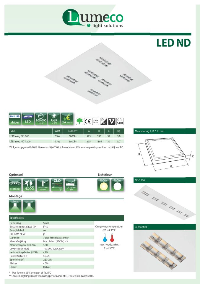 LED Inleg ND